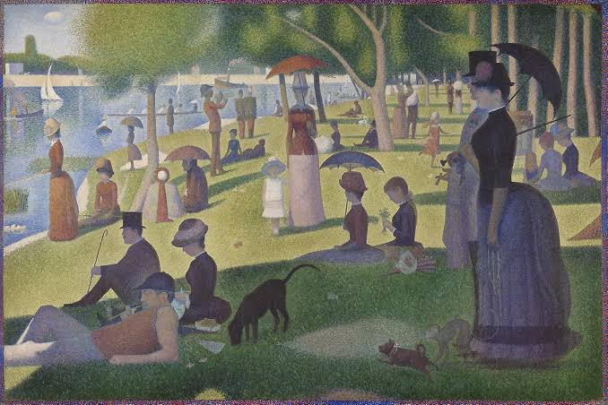 A Sunday Afternoon On the Island of La Grande Jatte, Georges Seurat