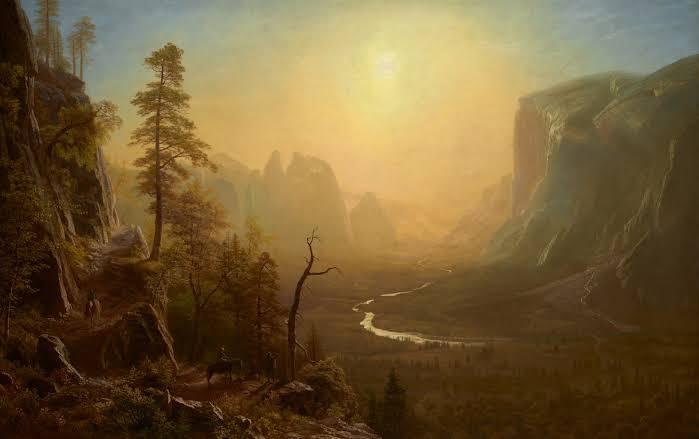 Giant Redwood Trees of California, Albert Bierstadt