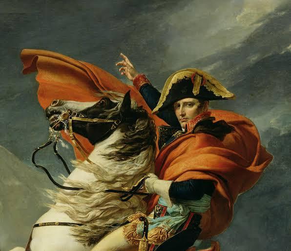 Napoleon Crossing the Alps, Jaques Louis David