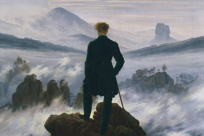 The Wanderer Above the Mists, Caspar David Friedrich